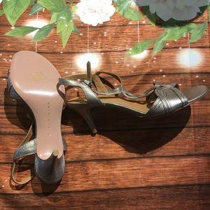 Elie Tahari NWOT sliver strappy heels size 8.5